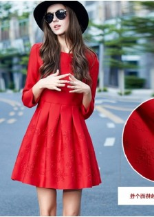 JNS3740 dress red
