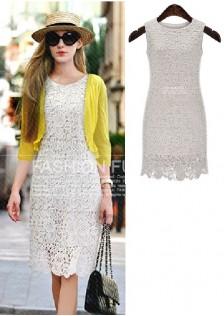 JNS8003 dress white