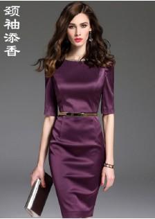 GSS9095 office-dress purple*