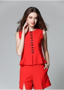 GSS5120 top+shorts red