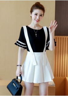 GSS9901 top+skirt black .