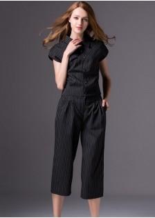 GSS6912 top+pants black
