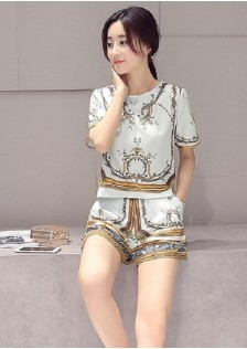 GSS7098 top+shorts