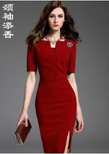 JNS1880 office-dress red