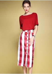 JNS2971 top+skirt