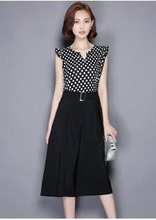JNS022 top+pants black