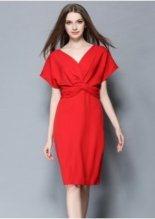 GSS068 office-dress red