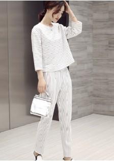 JNS1157 top+pants white