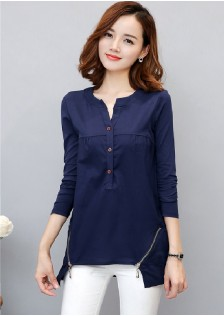 JNS1018 blouse navy