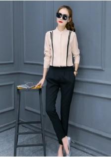 JNS654 top+pants khaki