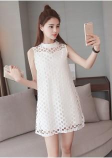 JNS8158 dress white