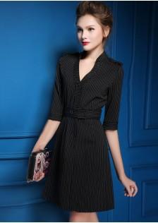 HYB9190 office-dress black