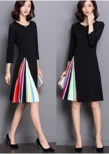 HYB6690 office-dress black
