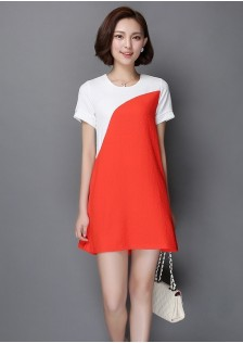 HYB6637 dress red
