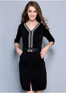 HYBQ808 office-dress black $15.20 50XXXX2984980-LA1LV147-B