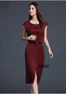 HYB9611 office-dress red