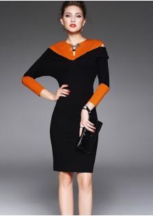 HYB5636 office-dress black