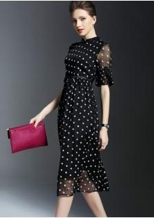 HYB9156 office-dress black