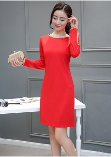 HYB6008 dress red