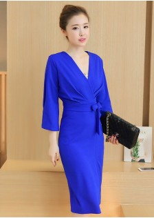 HYB8858 office-dress blue