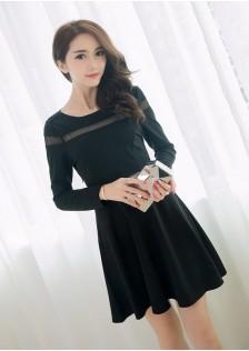 HYB8203 dress black