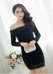 HYB8202 dress black