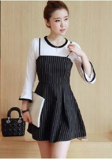 HYB648 2pcs-dress stripe
