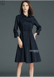 HYB8035 dress navy