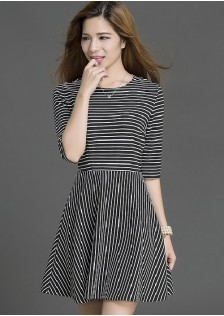 HYB16041 dress black