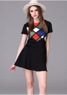HYB16012 dress black