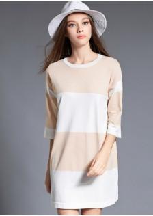HYB9659 dress apricot
