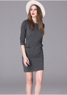 HYB16040 office-dress gray