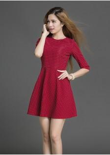 HYB16041 dress red