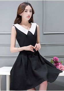 HYB1622 dress black -
