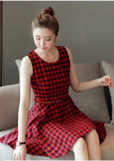 HYB801 dress red -