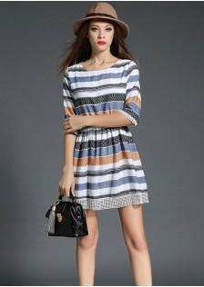 HYB5007 dress blue -