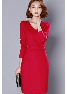 HYB711 office-dress red-