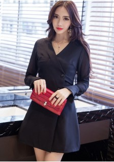 HYB2917 office-dress black-