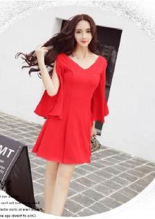 HYB1660 evening-dress red-