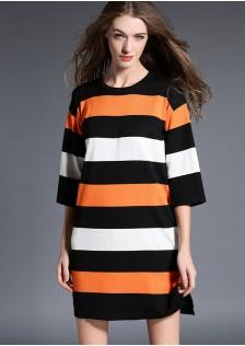 HYB5026 dress orange-